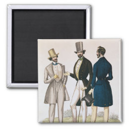 Fashion plate depicting male clothing magnet
