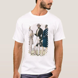 Fashion plate depicting male clothing T-Shirt