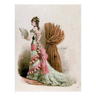 Fashion Plate ~ Postcard Dress French Vintage