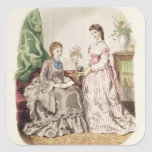 Fashion plate showing ballgowns stickers