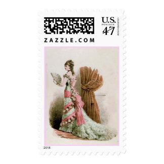 Fashion Plate ~ Stamp Catalog Dress Vintage