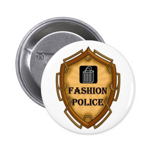 Fashion Police Pinback Buttons