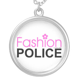 Fashion Police Silver Plated Necklace