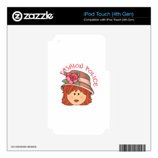 FASHION POLICE SKIN FOR iPod TOUCH 4G