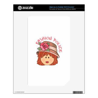 FASHION POLICE DECAL FOR NOOK COLOR