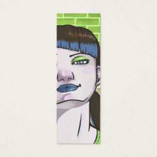 Fashion Punk Bookmark Mini Business Card