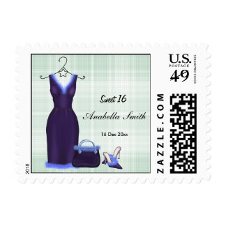 Fashion (Purple) Postage Stamps