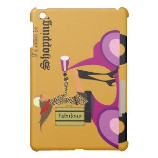 Fashion Purse Scooter Woman iPad Cover Gold