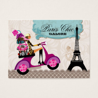 Fashion Purses Jewelry Scooter Paris Eiffel Tower Business Card