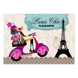 Fashion Purses Jewelry Scooter Paris Eiffel Tower Large Business Card