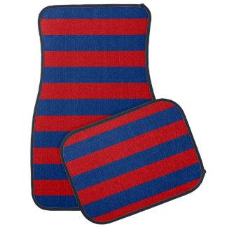Fashion Red and Blue Horizontal Stripes Car Mat