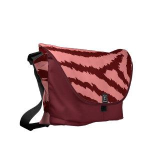 Fashion Red Zebra Print Messenger Bag