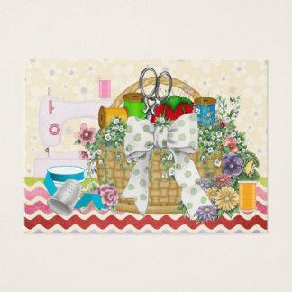 Fashion / Seamstress / Sewing Basket - SRF Business Card