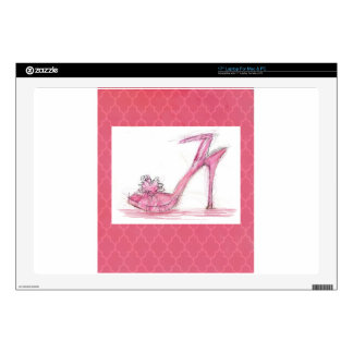 "Fashion Shoe Decal For 17"" Laptop"