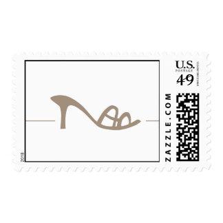 Fashion Shoe Icon Postage Stamp