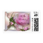 Fashion Shoes Magnolia Butterfly 40th Birthday Stamp