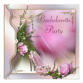 Fashion Shoes Magnolia Butterfly Bachelorette Personalized Invitation