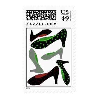 Fashion Shoes Postage Stamps
