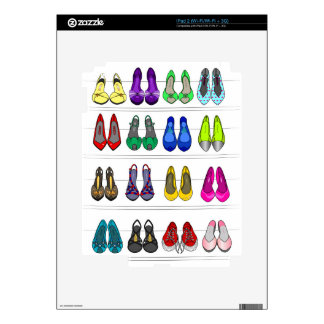 Fashion shoes skins for iPad 2