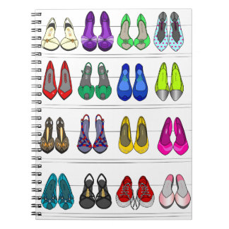 fashion shoes spiral notebook