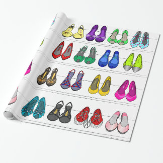 fashion shoes wrapping paper