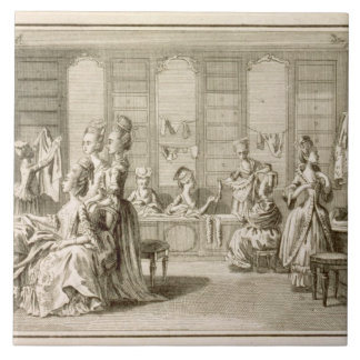 Fashion shop, from the 'Encyclopedia' by Denis Did Ceramic Tile