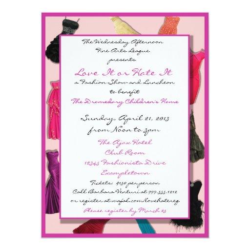 Fashion Show And Luncheon Custom Invitations Zazzle