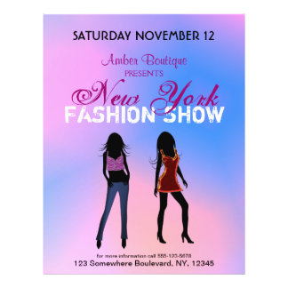 Fashion Show Boutique Promotional Custom Flyers