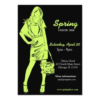 Fashion Show (Dark Olive Green) Invites