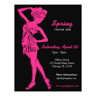 Fashion Show (Deep Pink ) Flyer
