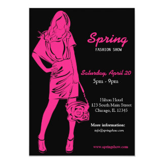Fashion Show (Deep Pink) Personalized Announcement