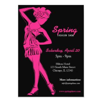 Fashion Show (Deep Pink) Invitations