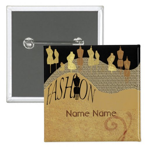 Fashion show amp fashion designer name tag pinback buttons zazzle