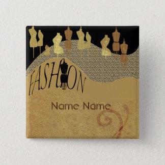 Fashion Show & Fashion Designer Name Tag Pinback Button