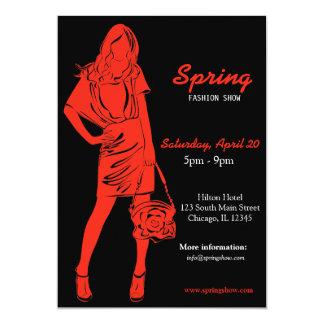 Fashion Show (Firebrick) Invite