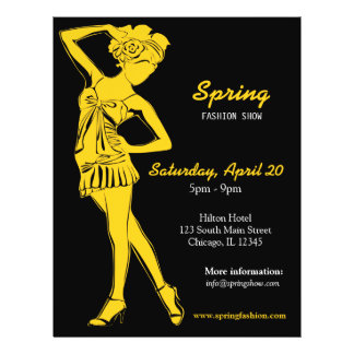 Fashion Show (Gold) Flyer