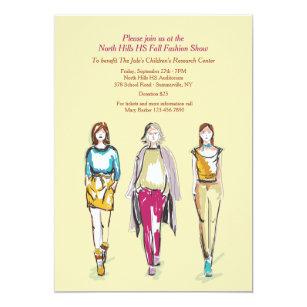 Fashion show invitations announcements zazzle fashion show invitations stopboris Image collections