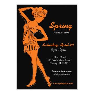 Fashion Show (Orange) Card