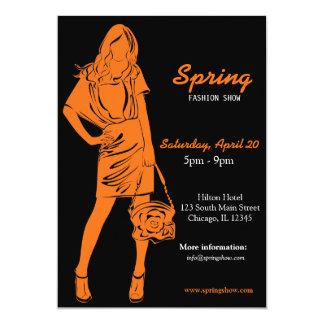 Fashion Show (Orange) Personalized Invitations
