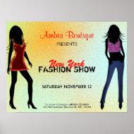Fashion Show Poster print