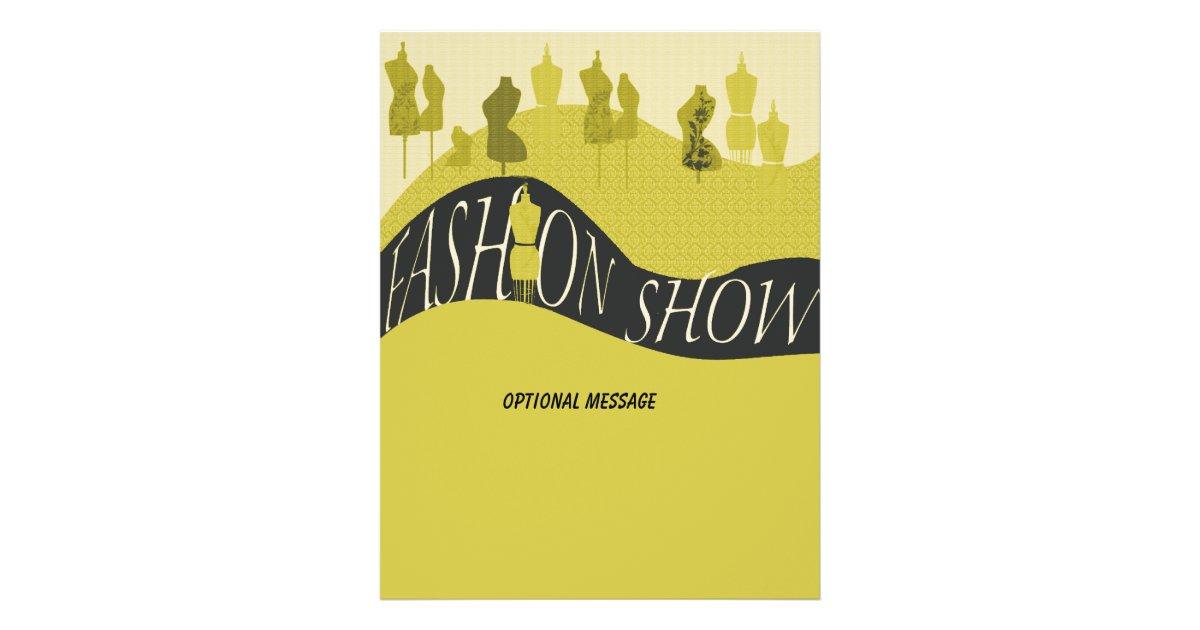 Fashion Show Style Designer Invitation Flyer Zazzle