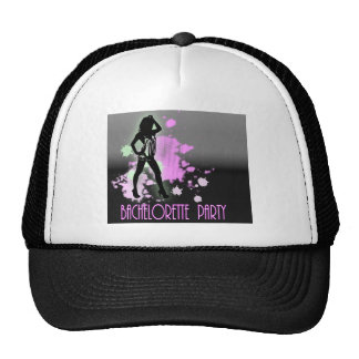 Fashion silhouette Bachelorette Party Invitation Mesh Hat