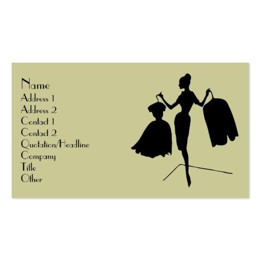 Fashion Silhouette Business Card
