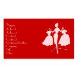 Fashion Silhouette Business Card Templates