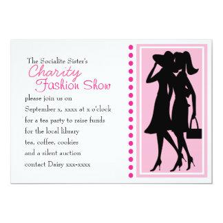 Fashion Silhouettes 5x7 Paper Invitation Card