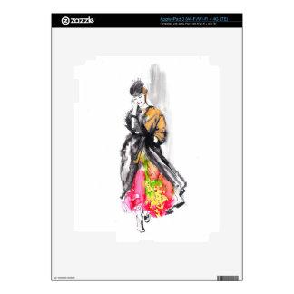 fashion sketch iPad 3 decal