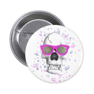 Fashion Skull Button Pin Redondo De 2 Pulgadas