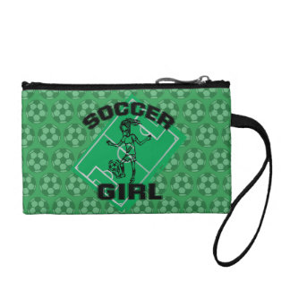 Fashion Soccer girl football design Change Purses
