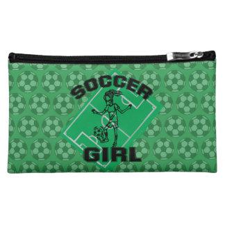 Fashion Soccer girl football design Cosmetic Bag