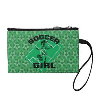 Fashion Soccer girl football design Coin Purse